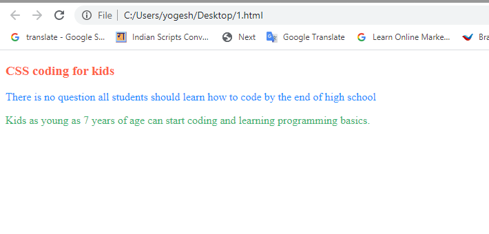 color in css coding for kids