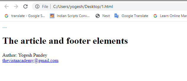 html coding footer
