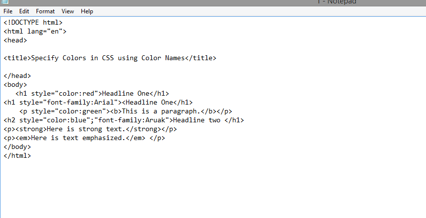 formatting in html coding