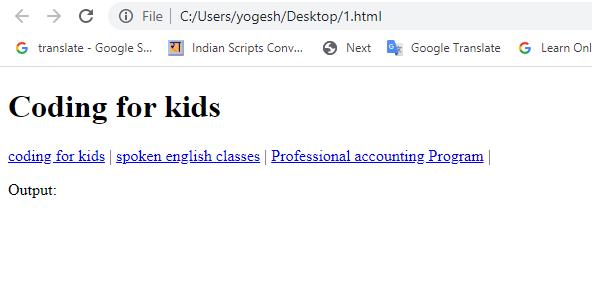 header html coding