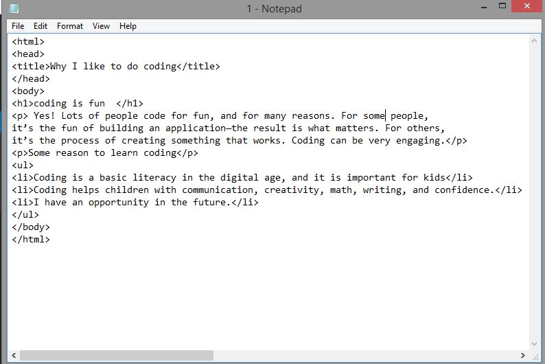HTML coding Kids editor
