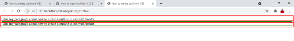 Outline offset in CSS