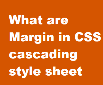 What are Margin in CSS cascading style sheet