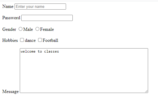 form in HTML