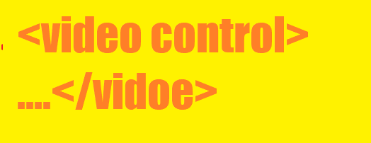 Video control tag html