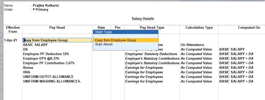 define salary employee level