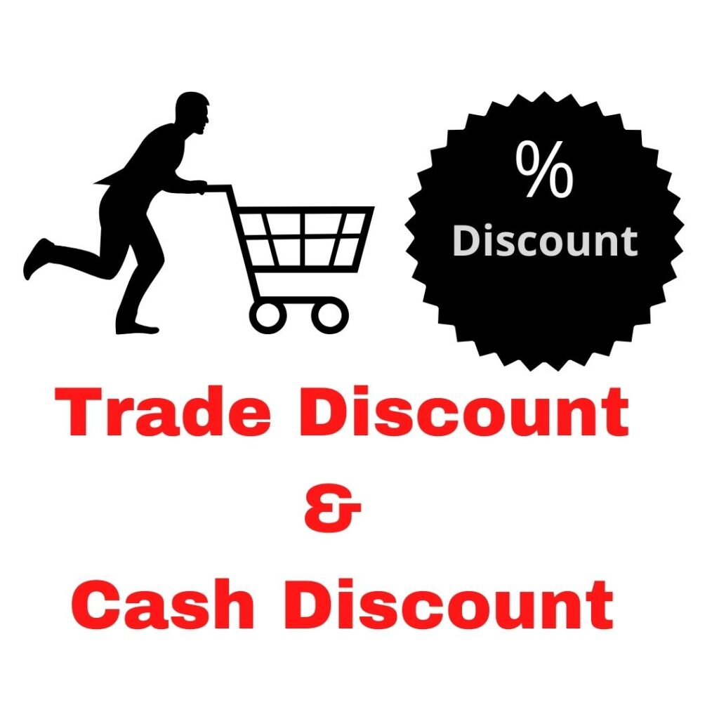 What is difference between Trade discount and cash discount